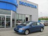 2007 Atomic Blue Metallic Honda Civic EX Sedan #29899579