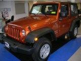 2010 Mango Tango Pearl Jeep Wrangler Sport 4x4 #29900083