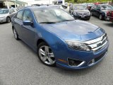 2010 Sport Blue Metallic Ford Fusion Sport #29899751