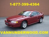 1996 Laser Red Metallic Ford Mustang V6 Coupe #29899429