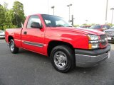 2004 Victory Red Chevrolet Silverado 1500 Regular Cab #29899633