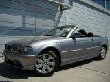 2005 Silver Grey Metallic BMW 3 Series 325i Convertible #29957026