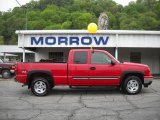 2006 Victory Red Chevrolet Silverado 1500 Z71 Extended Cab 4x4 #29957175