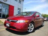 2007 Tango Red Pearl Honda Civic EX Sedan #29957400