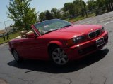 2001 Bright Red BMW 3 Series 325i Convertible #29957220