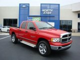 2005 Flame Red Dodge Ram 1500 SLT Quad Cab 4x4 #29957232