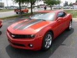 2010 Inferno Orange Metallic Chevrolet Camaro LT Coupe #29957691