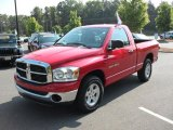 2007 Flame Red Dodge Ram 1500 SLT Regular Cab #29957590
