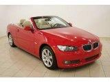 2008 Crimson Red BMW 3 Series 335i Convertible #29957628