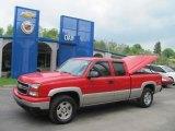 2006 Victory Red Chevrolet Silverado 1500 Z71 Extended Cab 4x4 #30036292