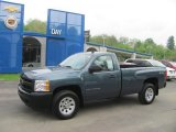 2009 Blue Granite Metallic Chevrolet Silverado 1500 Regular Cab 4x4 #30036294