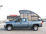 2009 Blue Granite Metallic Chevrolet Silverado 1500 LS Extended Cab #30036889