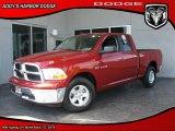 2010 Inferno Red Crystal Pearl Dodge Ram 1500 Big Horn Quad Cab #30036179