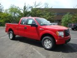 2010 Vermillion Red Ford F150 STX SuperCab 4x4 #30036360