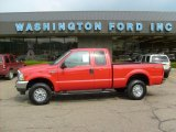 2004 Red Ford F250 Super Duty XLT SuperCab 4x4 #30036686