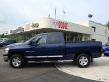 2006 Patriot Blue Pearl Dodge Ram 1500 SLT Quad Cab 4x4 #30036715
