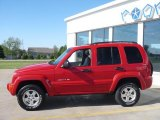 2002 Flame Red Jeep Liberty Limited 4x4 #30036438