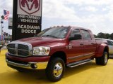 2008 Inferno Red Crystal Pearl Dodge Ram 3500 SLT Mega Cab 4x4 Dually #30036461