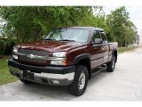 2003 Dark Carmine Red Metallic Chevrolet Silverado 2500HD LS Extended Cab 4x4 #30037410