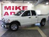 2007 Bright White Dodge Ram 1500 ST Quad Cab #30037425