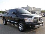 2007 Brilliant Black Crystal Pearl Dodge Ram 1500 Laramie Quad Cab #30037136