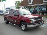 2004 Sport Red Metallic Chevrolet Silverado 1500 Z71 Crew Cab 4x4 #30036533