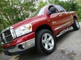 2008 Inferno Red Crystal Pearl Dodge Ram 1500 Big Horn Edition Quad Cab 4x4 #30037145