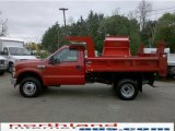2010 Vermillion Red Ford F350 Super Duty XL Regular Cab 4x4 Chassis Dump Truck #30158005