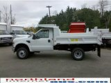 2010 Oxford White Ford F350 Super Duty XL Regular Cab 4x4 Chassis Dump Truck #30158006