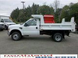 2010 Oxford White Ford F350 Super Duty XL Regular Cab 4x4 Chassis Dump Truck #30158007