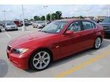 2007 Crimson Red BMW 3 Series 335i Sedan #30037592