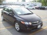 2007 Nighthawk Black Pearl Honda Civic EX Sedan #30037619