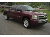 2009 Deep Ruby Red Metallic Chevrolet Silverado 1500 LT Z71 Crew Cab 4x4 #30158437