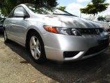 2007 Alabaster Silver Metallic Honda Civic EX Coupe #30157954