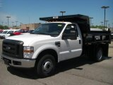 2010 Oxford White Ford F350 Super Duty XL Regular Cab Chassis Dump Truck #30214352