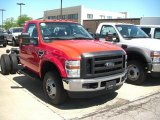 2010 Vermillion Red Ford F350 Super Duty XL Regular Cab 4x4 Chassis #30214356