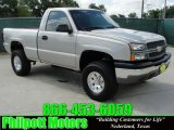 2004 Silver Birch Metallic Chevrolet Silverado 1500 Regular Cab 4x4 #30214023