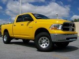 2009 Detonator Yellow Dodge Ram 1500 SLT Quad Cab 4x4 #30213692