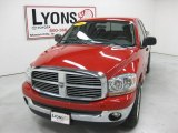 2006 Flame Red Dodge Ram 1500 Big Horn Edition Quad Cab 4x4 #30280764