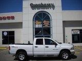 2005 Bright White Dodge Ram 1500 SLT Quad Cab 4x4 #30280932