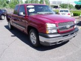 2005 Sport Red Metallic Chevrolet Silverado 1500 LS Extended Cab #30281411