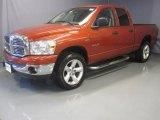 2008 Sunburst Orange Pearl Dodge Ram 1500 Big Horn Edition Quad Cab 4x4 #30281211