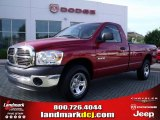 2008 Inferno Red Crystal Pearl Dodge Ram 1500 SXT Regular Cab #30280997