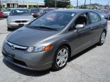 2006 Galaxy Gray Metallic Honda Civic LX Sedan #30281250