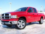 2005 Flame Red Dodge Ram 1500 Big Horn Edition Quad Cab #2974375