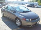 2007 Galaxy Gray Metallic Honda Civic LX Coupe #30281309