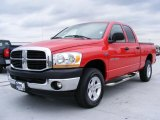 2006 Flame Red Dodge Ram 1500 SLT Quad Cab 4x4 #30281368