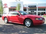2001 Laser Red Metallic Ford Mustang V6 Coupe #30330390