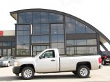 2009 Silver Birch Metallic Chevrolet Silverado 1500 Regular Cab 4x4 #30330805