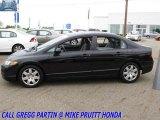 2007 Nighthawk Black Pearl Honda Civic LX Sedan #30330432